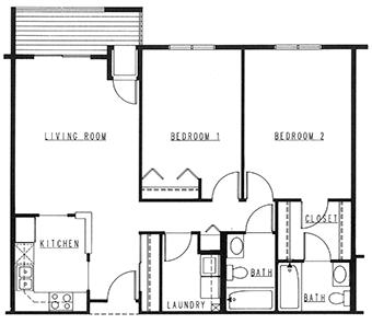 Northview Manor floor plan E